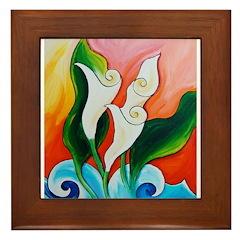 Calla Lily Sea Framed Tile