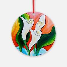Calla Lily Sea Ornament (Round)