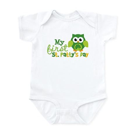 My 1st St. Patrick's Day Owl Infant Bodysuit