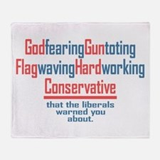 Conservative Throw Blanket