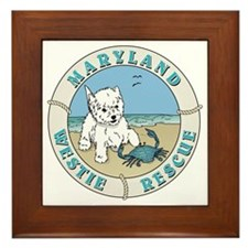 Funny Westie rescue Framed Tile