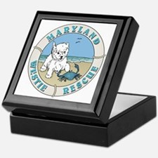 Cute Rescue westie Keepsake Box