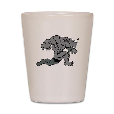 Running Rhino Shot Glass