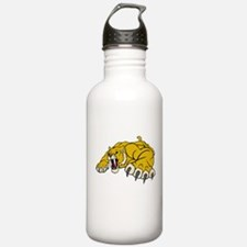 Saber Tooth Tiger Mascot Water Bottle