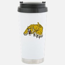 Saber Tooth Tiger Mascot Stainless Steel Travel Mu