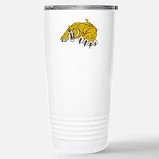 Saber Tooth Tiger Mascot Travel Mug