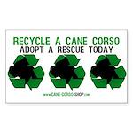 Recycled Cane Corso Sticker (Rectangle 10 pk)