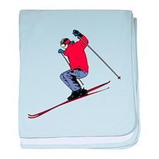 Ski Jump baby blanket