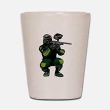 Paintball Player Shot Glass
