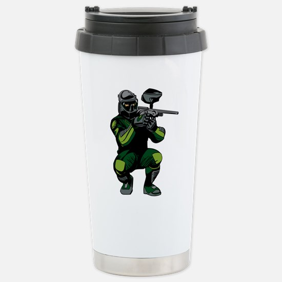 Paintball Player Stainless Steel Travel Mug