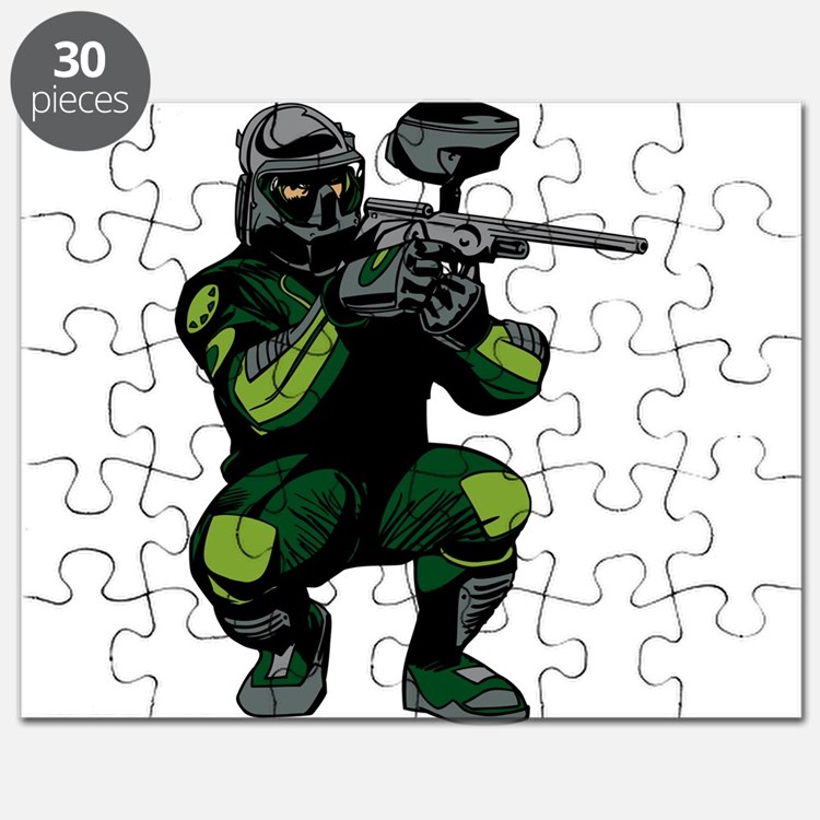 Paintball Player Puzzle
