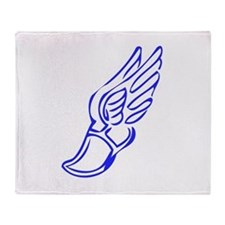 Winged Running Shoes Throw Blanket