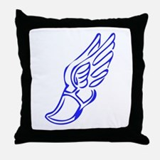 Winged Running Shoes Throw Pillow