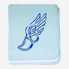Winged Running Shoes baby blanket