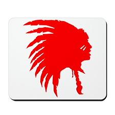 Native American War Chief Mousepad