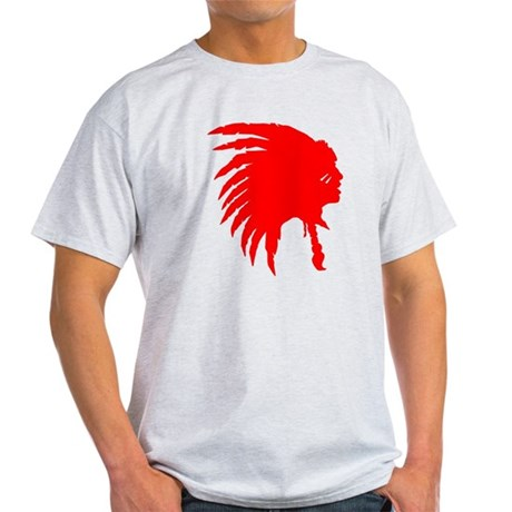 Native American War Chief Light T-Shirt