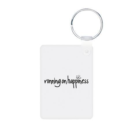running on happiness Aluminum Photo Keychain