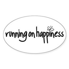 running on happiness Decal
