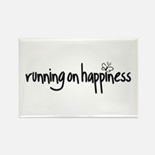 running on happiness Rectangle Magnet