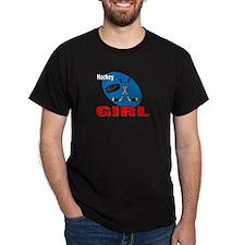 Hockey Girl Black T-Shirt