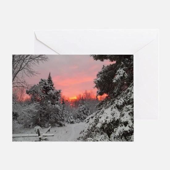 Winter Glow /Greeting Card