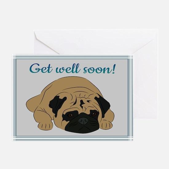 Pug (get well) Greeting Card