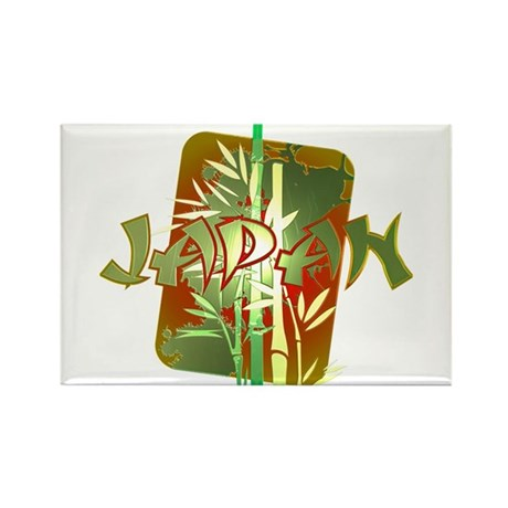 Bamboo Japan Rectangle Magnet (100 pack)