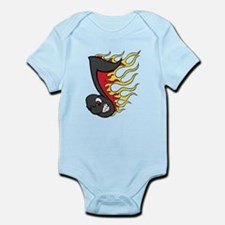 Flaming Eight Note Infant Bodysuit