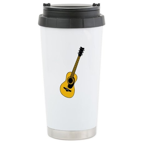Acoustic Guitar Stainless Steel Travel Mug
