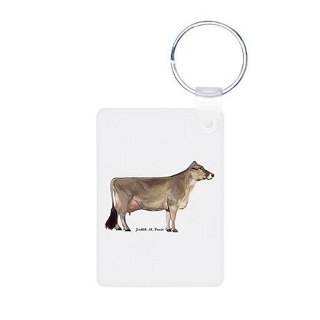 Brown Swiss Aluminum Photo Keychain