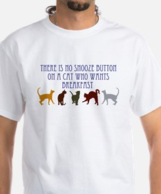 No Snooze Button for Kitties Shirt