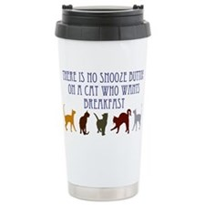 No Snooze Button for Kitties Travel Mug