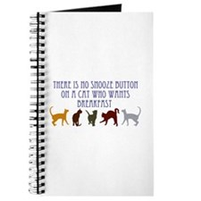 No Snooze Button for Kitties Journal