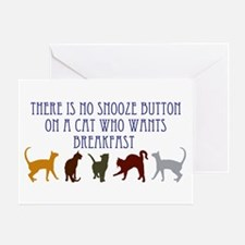 No Snooze Button for Kitties Greeting Card