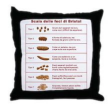 Scala delle feci di Bristol Throw Pillow