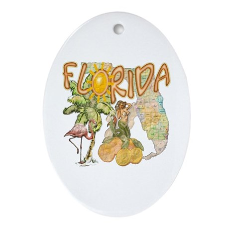 Florida Ornament (Oval)