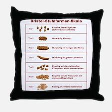 Bristol-Stuhlformen-Skala Throw Pillow