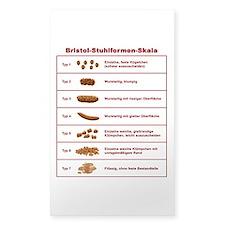 Bristol-Stuhlformen-Skala Decal