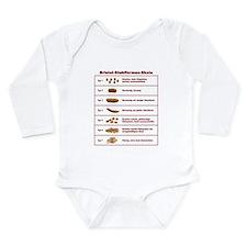 Bristol-Stuhlformen-Skala Long Sleeve Infant Bodys