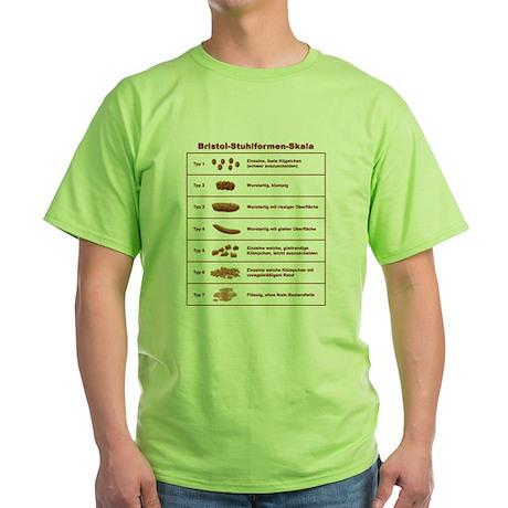 Bristol-Stuhlformen-Skala Green T-Shirt