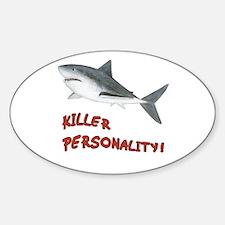 Shark - Killer Personality Sticker (Oval)
