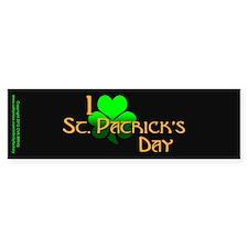 I Love St. Patrick's Day Bumper Sticker
