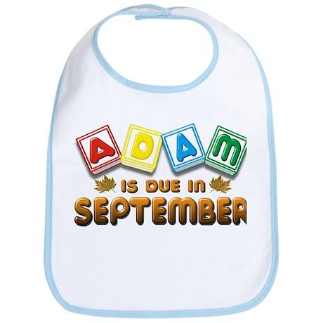 Adam is Due in September Bib