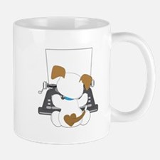 Cute Puppy Typewriter Mug