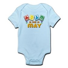 Adam is Due in May Infant Bodysuit
