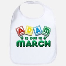 Adam is Due in March Bib