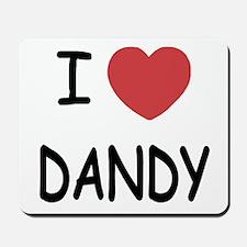 I heart dandy Mousepad
