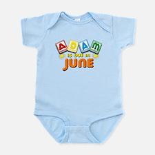 Adam is Due in June Infant Bodysuit