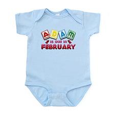 Adam is Due in February Infant Bodysuit