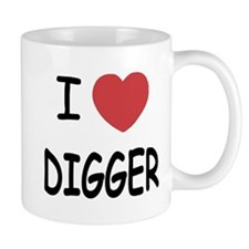 I heart digger Mug